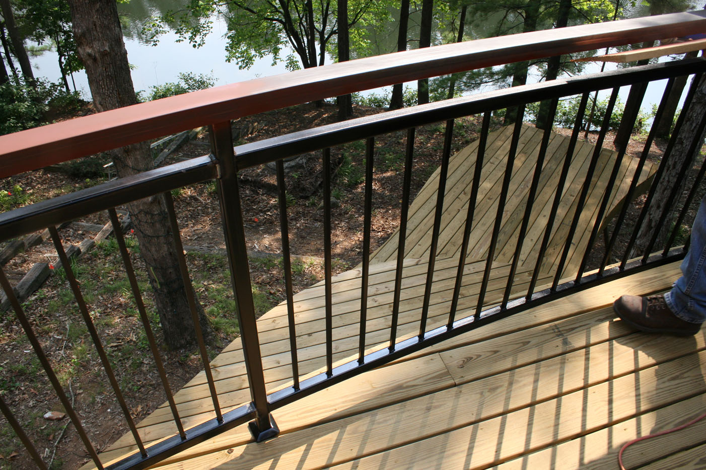Westward machine and tool inc residential architectural for Balcony steel railing designs pictures